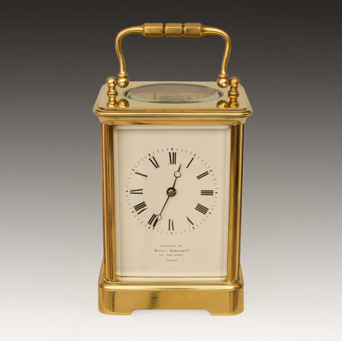 HOWELL JAMES REGENT ST LONDON CARRIAGE CLOCK by FRANCOIS-ARSENE MARGAINE c.1890