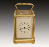 AN EARLY FRENCH 'ONE-PIECE' CASE CARRIAGE CLOCK
