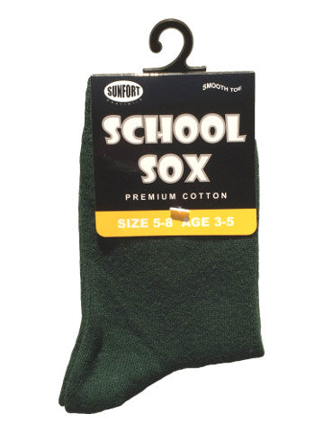 Kids crew socks, GREEN