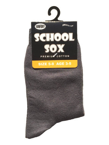 Kids crew socks, GREY