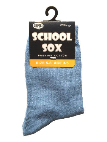 Kids crew socks, LIGHT BLUE