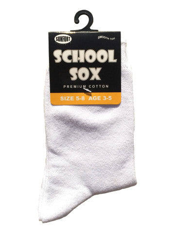 Kids crew socks, WHITE