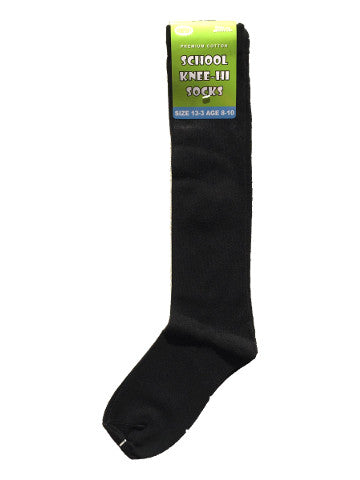 Kids knee-high socks, BLACK