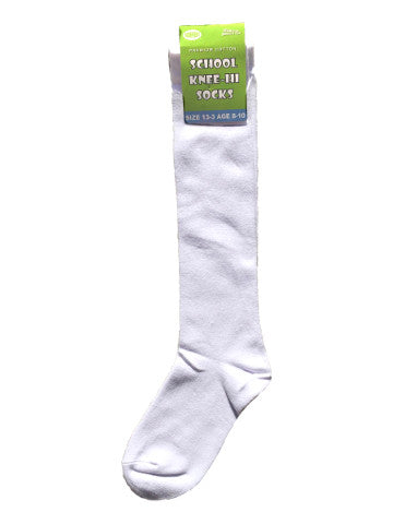 Kids knee-high socks, WHITE