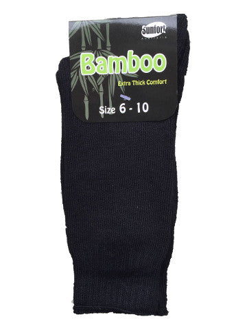 Mens outdoor work socks, size 6-10, bamboo, BLACK