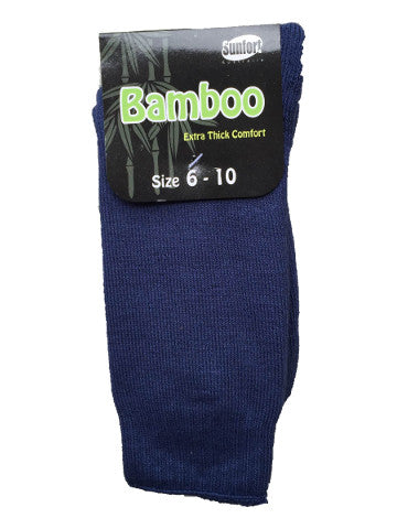Mens outdoor work socks, size 6-10, bamboo, BLUE