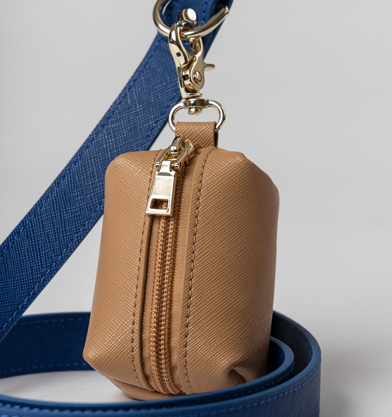 Classic Cobalt Blue Leather Lead