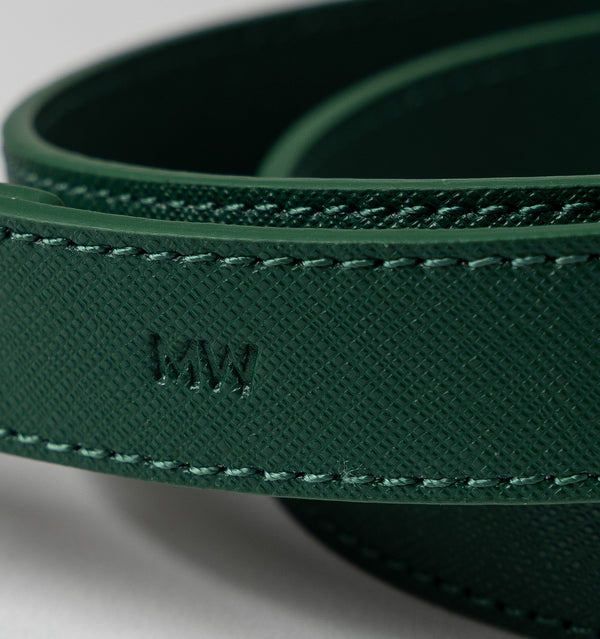 Classic Hunter Green Leather Lead