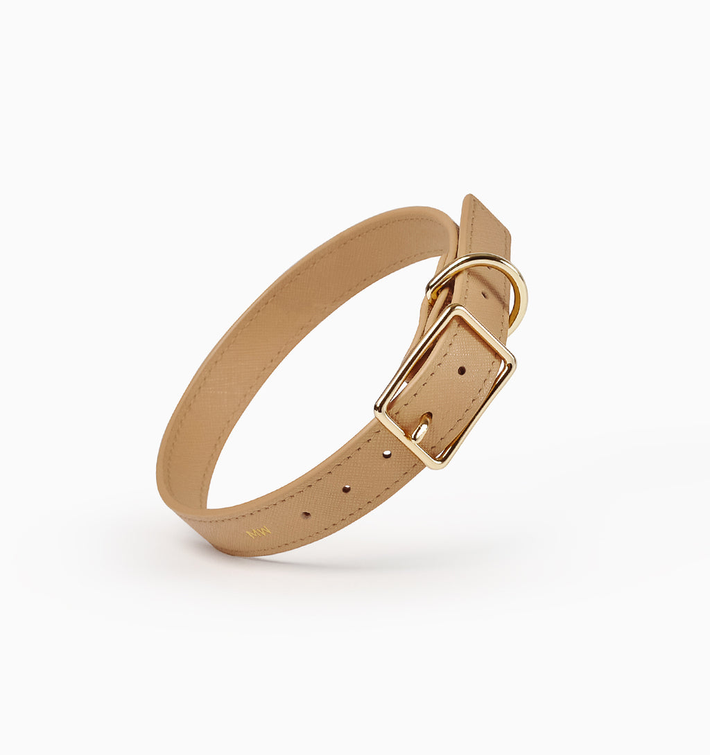 Classic Tan Leather Collar