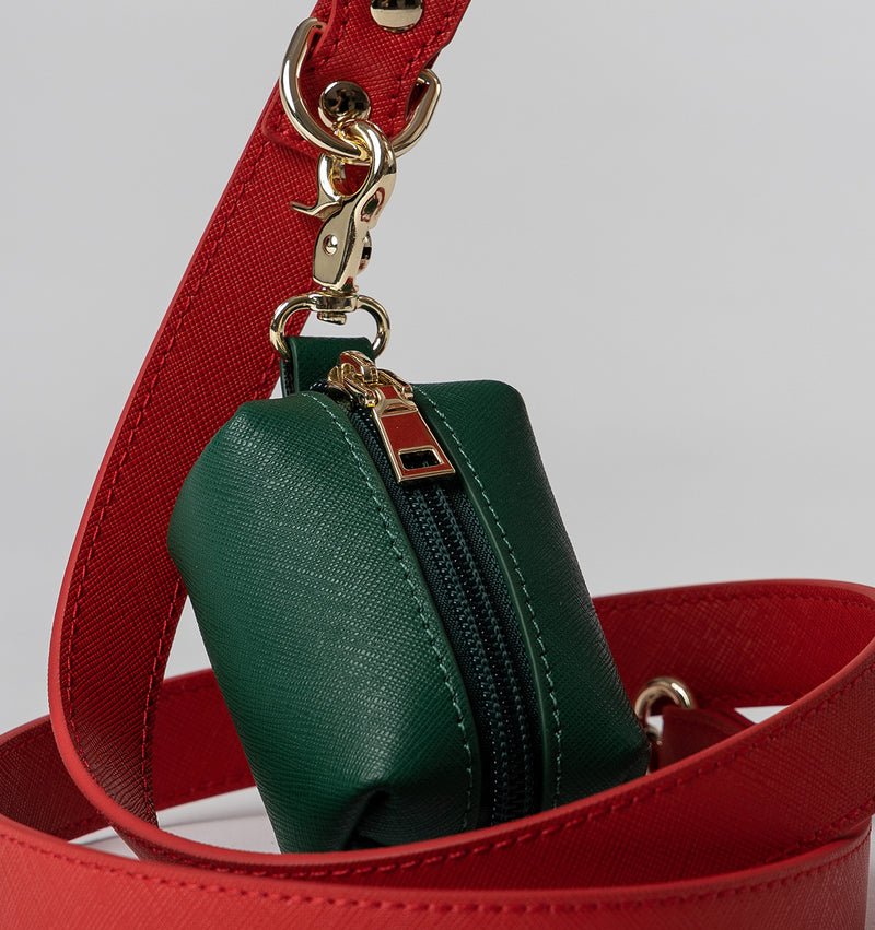 Classic Red Leather Lead