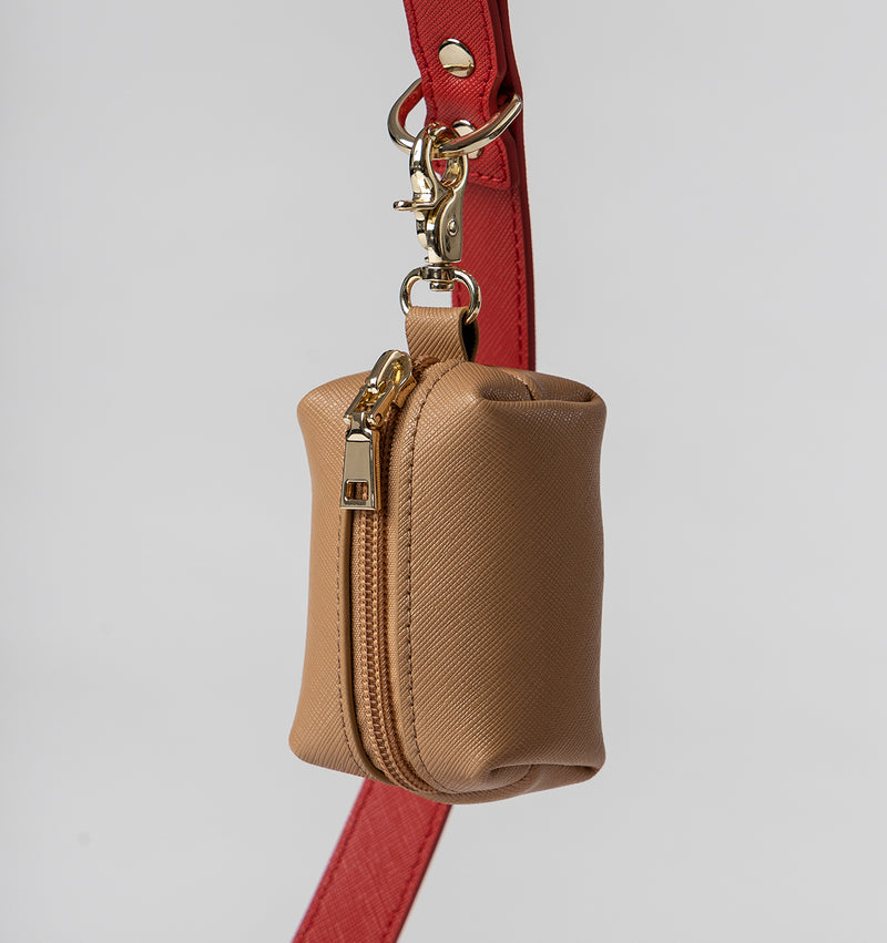 Classic Tan Leather Poop Bags
