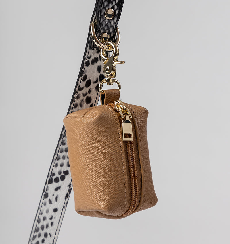 Classic Snakeskin Print Leather Lead