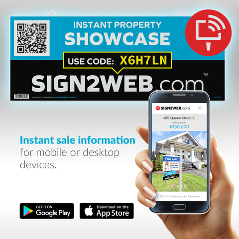 "Instant Showcase Sign Rider 24"" or 32"""
