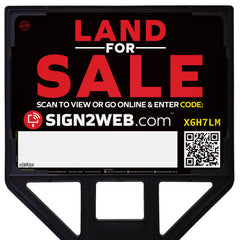 "Web Enabled 18"" x 24"" Land For Sale Sign and Realty Frame"