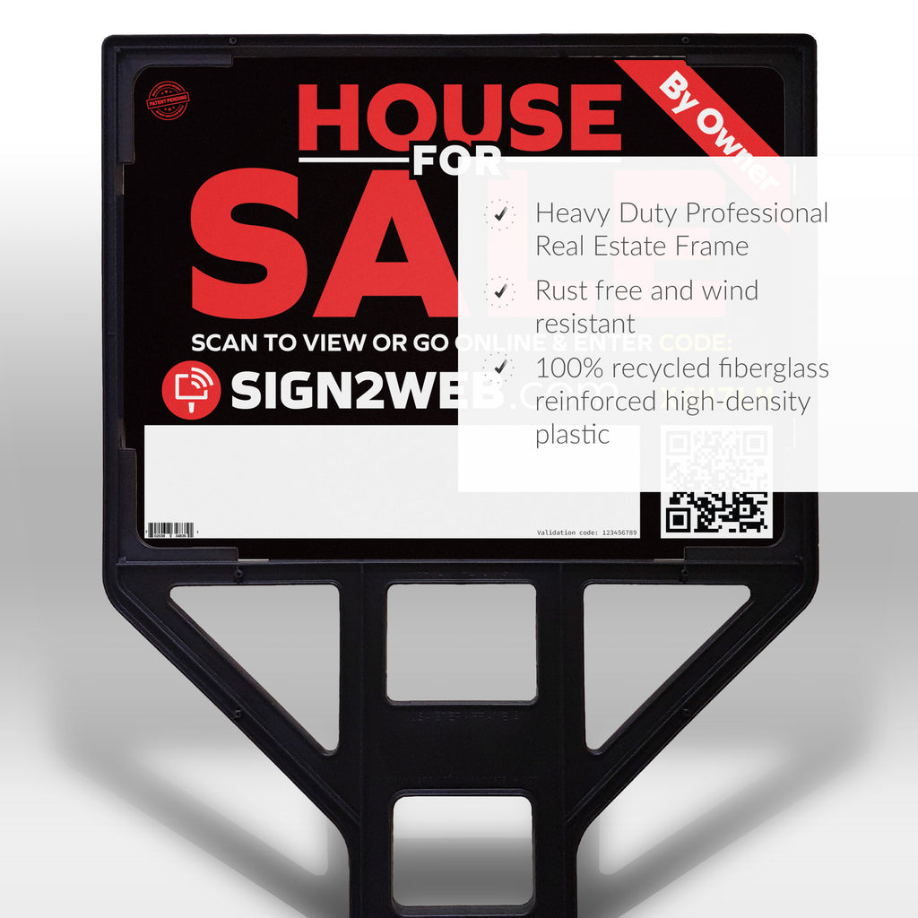 Heavy Duty Real Estate Sign Frame
