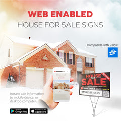 "Web Enabled 18"" x 24"" House For Sale Sign and Realty Frame"