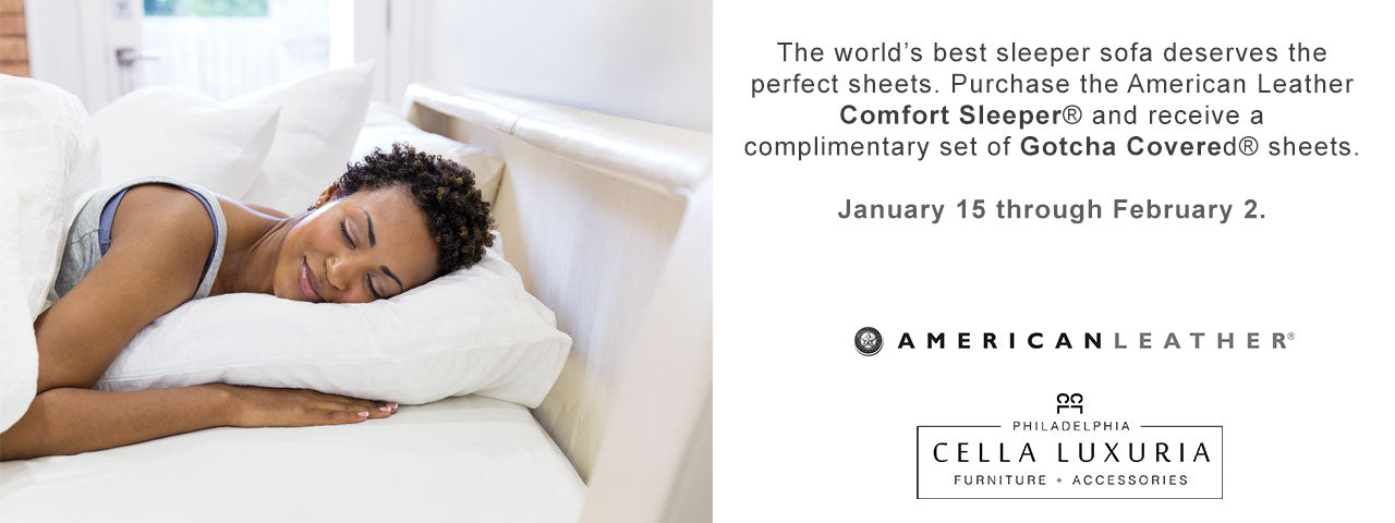 American Leather Comfort Sleeper Gotcha Covered Promotion