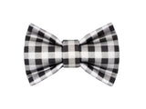 Grey and Black Gingham Bowtie