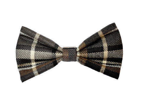 Dark Plaid Bowtie