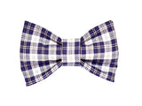 Navy Plaid Bowtie