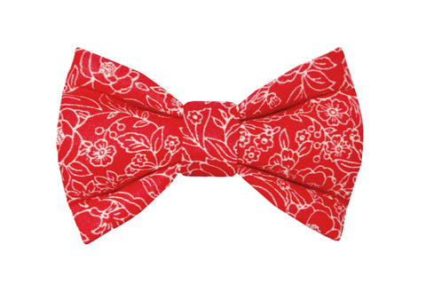 Red Floral Bowtie