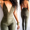 Sexy Deep V Backless Tight Rompers Jumpsuit [OM160063]