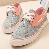 Fashion printing canvas flat shoes BN1112G