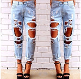 Fashion Hole Loose Jeans [T15011002]