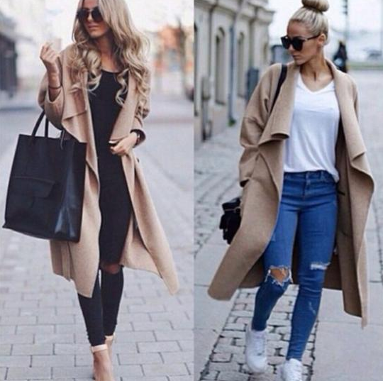 Fashion Long Sleeved Loose Coat [1508462]