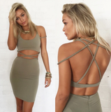 Fashion hollow-out tight dress [6225470]