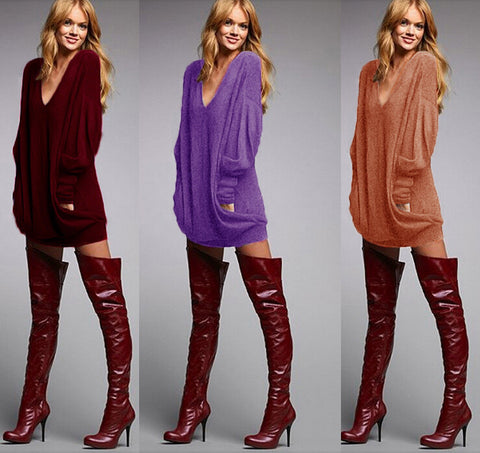 Fashion Solid color bodycom hooded dress  L728196