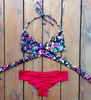 Sexy Cross Printing Bikini Set Swimsuit Swimwear [TXO75HY]