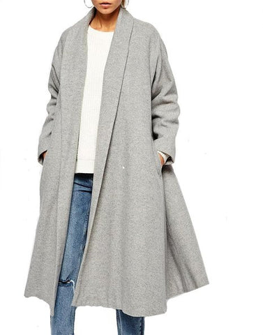 Fashion irregular stitching loose coat  L362058