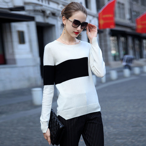 Loose solid color high-necked sweater   L610914