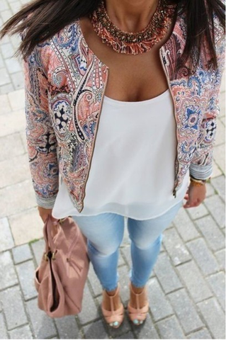 Leopard Print Long Sleeves Fashion Cardigan Jacket Coat