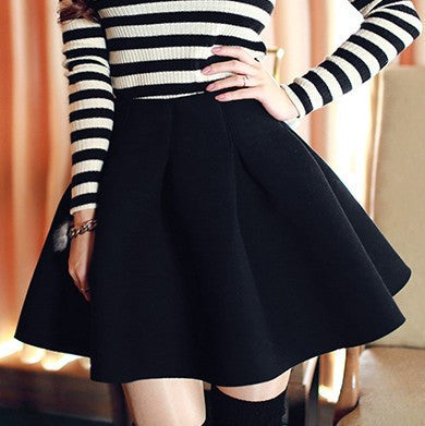 Fashion High Waist Pure Color Skirts [L405684]