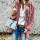 Fashion Cashmere Solid Color Cardigan Jacket Coat