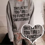 Fashion round neck letters sweater  L340519
