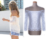 Strapless lace blouse shirt