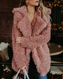 Fur Long Sleeve Fashion Cardigan Jacket Coat