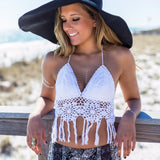 Cotton sunflower beach bikini [L382461]