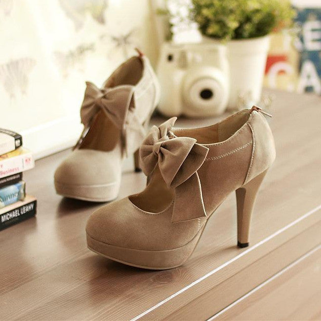 Bowknot adornment high heels 9547YB