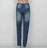 Leisure loose hole jeans 4268416