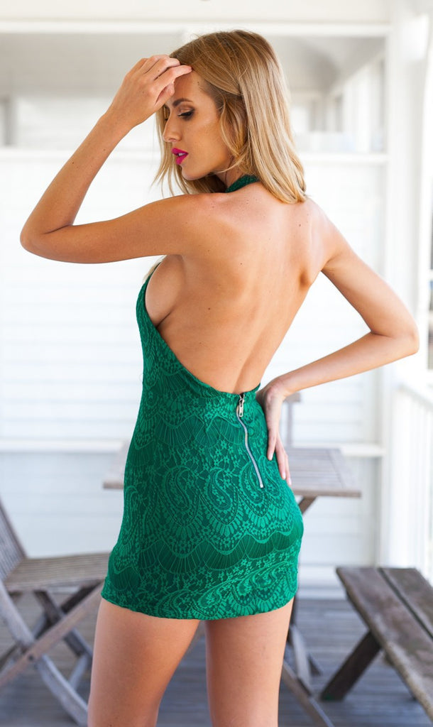 Sexy lace backless tight dress X831857 – Lalall