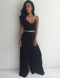 Fashion Leisure Loose V-Neck Jumpsuits [3457839]