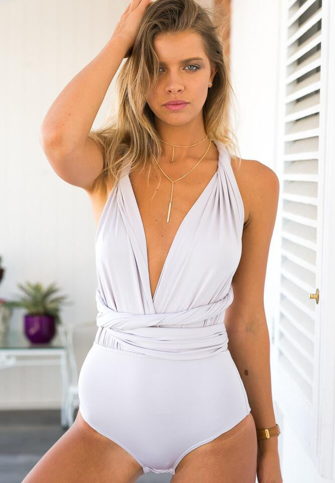 Sexy V-Neck Solid Color Jumpsuit Rompers