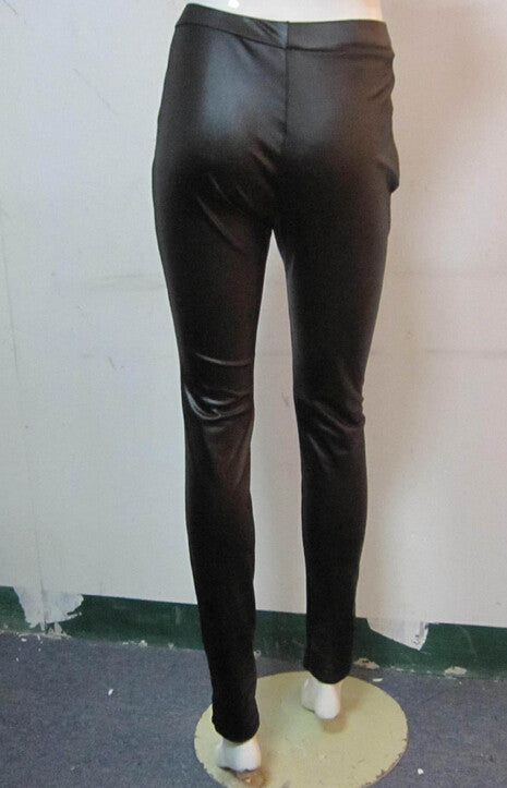Fashion zipper leather pants  L18597