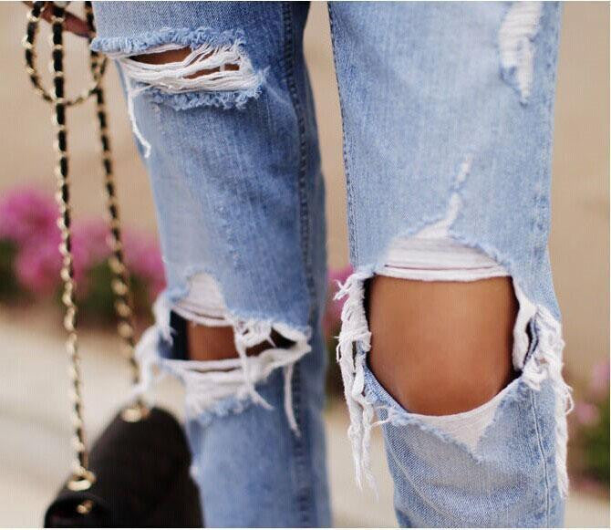 Fashion loose low waist hole  jeans 2672472