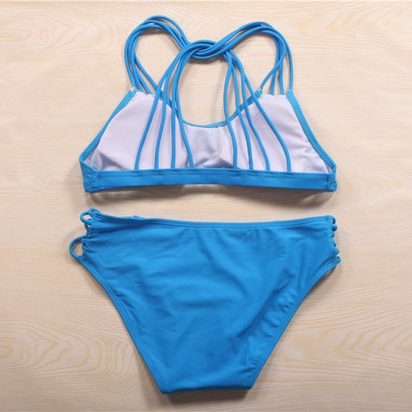 Sexy Pure Color Beach Bikini Set Swimsuit Swimwear [T15010803]