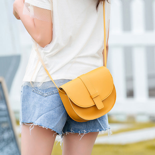 Small Women Purse Shell Shoulder Messenger Bag PU Leather Fashion Solid Yellow Black Crossbody Bag Bolsas Ladies Phone Purse